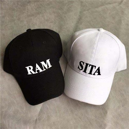 Giftsuncommon - Customized Name Printed Couple Cap